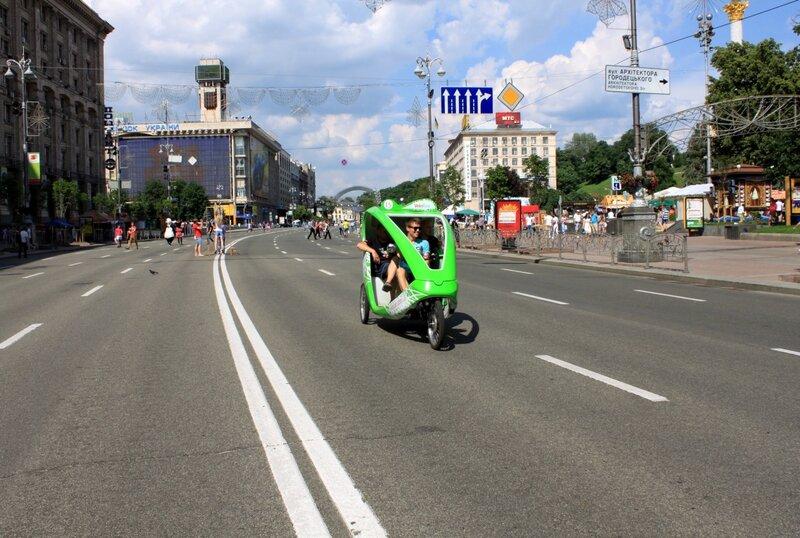 Велотакси в Киеве