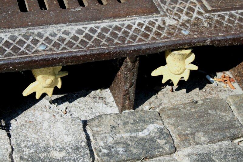 Гребешки под решеткой ливнестока