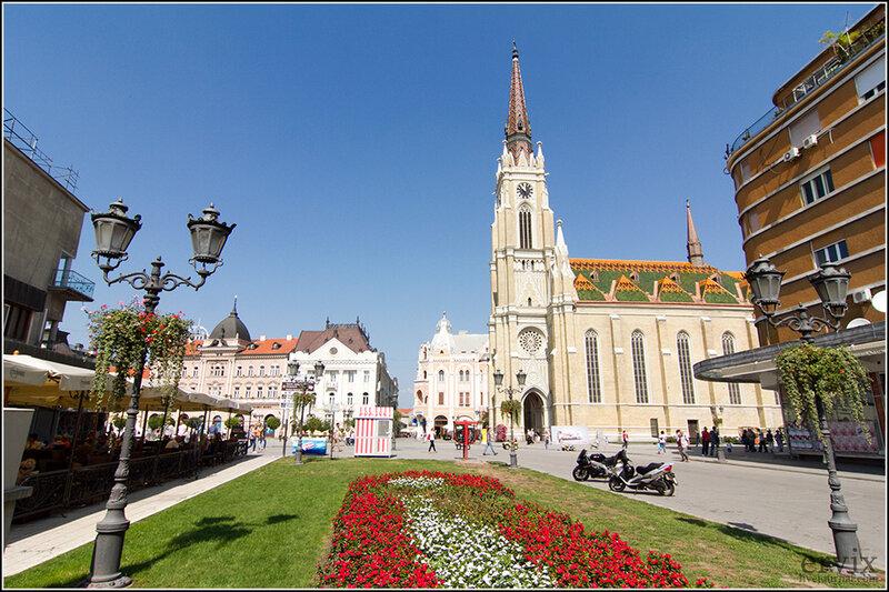площадь города Нови Сад