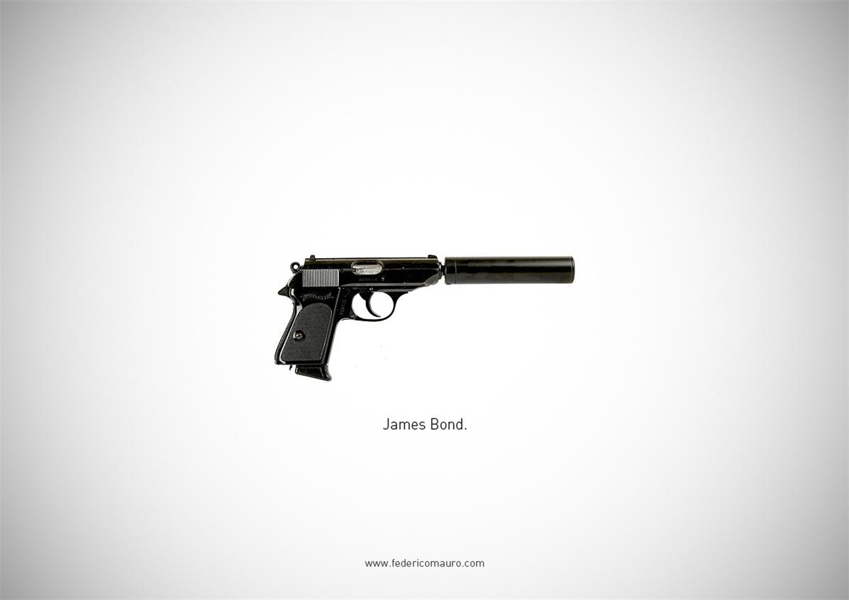 Знаменитые пушки - оружие культовых персонажей / Famous Guns by Federico Mauro - James Bond (007)