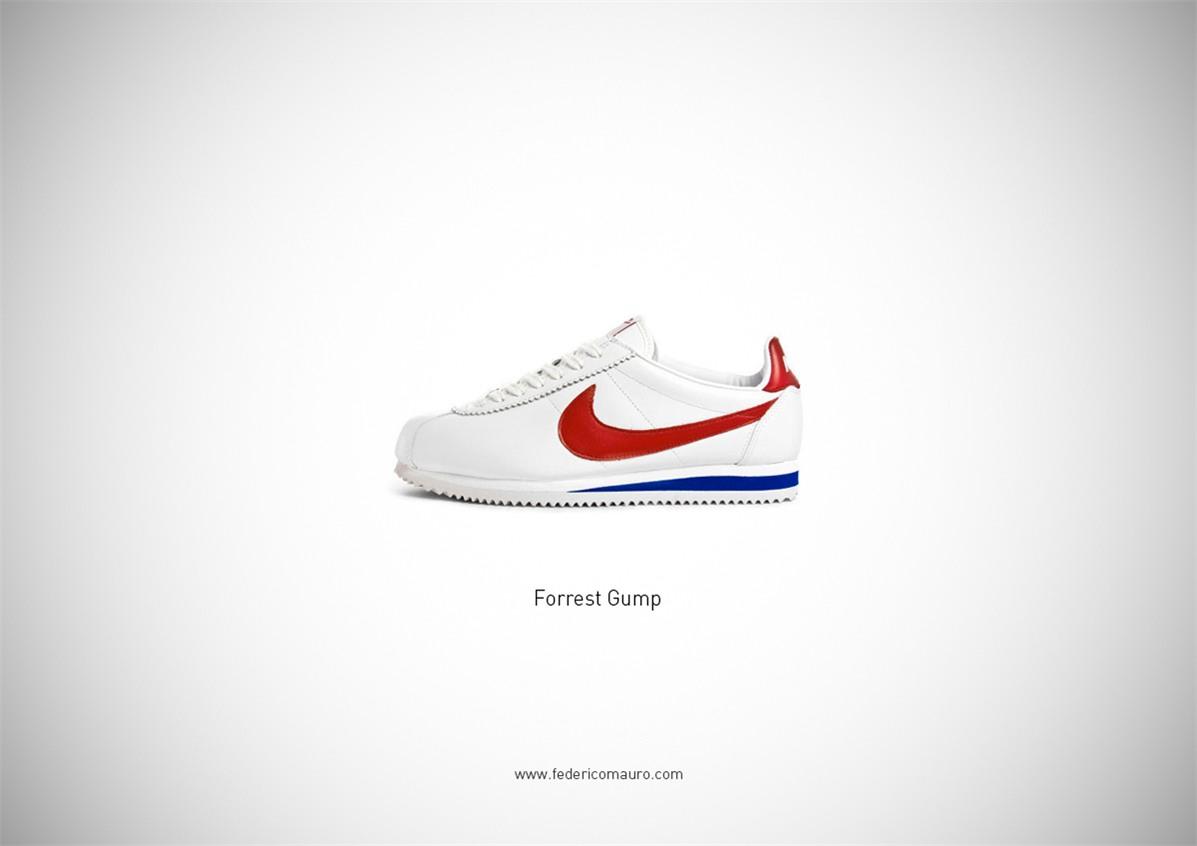 Знаменитая обувь культовых персонажей / Famous Shoes by Federico Mauro - Forrest Gump