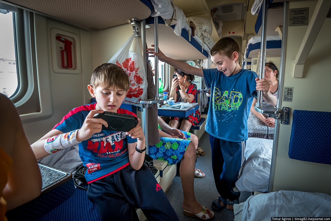 Новый год в поезде с детьми