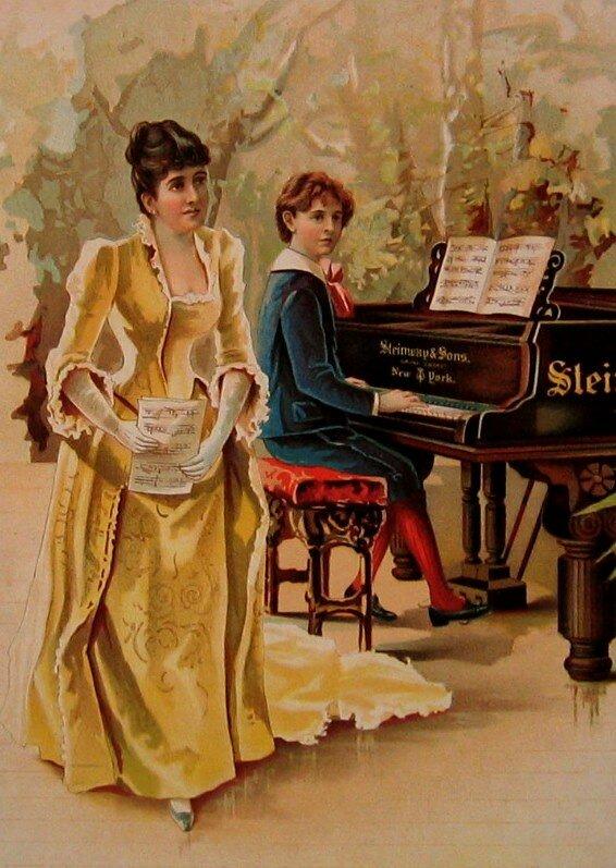 Bildergebnis für картинка рисунок пианистка с вокалисткой