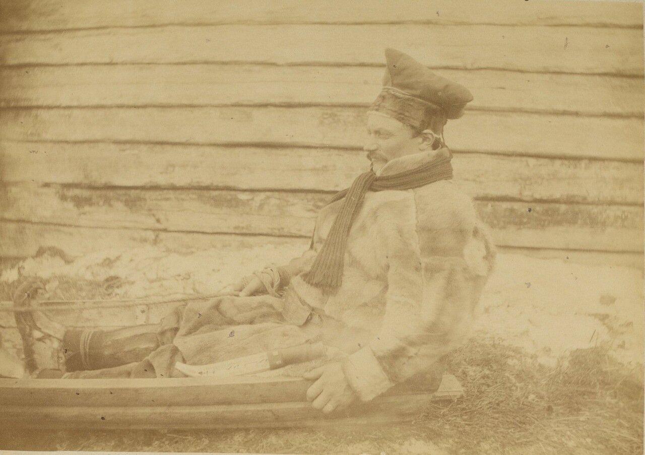 Лапландец и его сани.1888