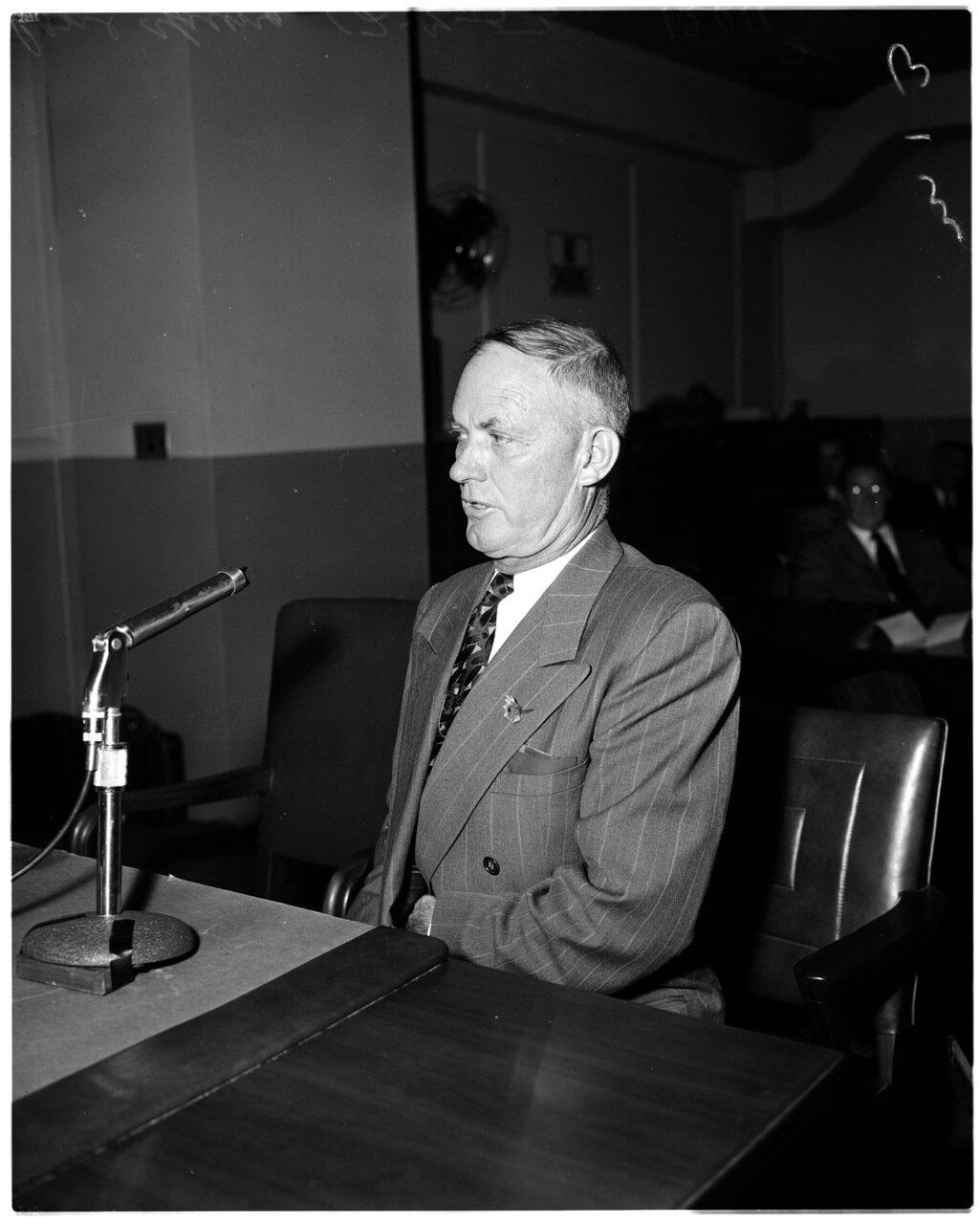 1956. 7 декабря. Комиссия по расследованию антиамериканской деятельности. Джером Лэнд