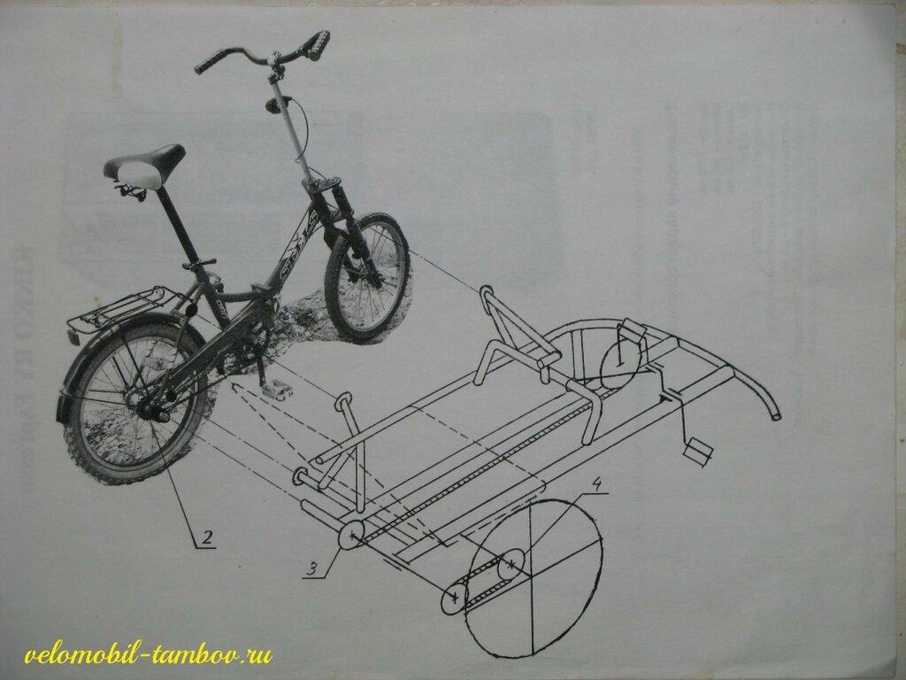 Велоприцеп своими руками чертежи