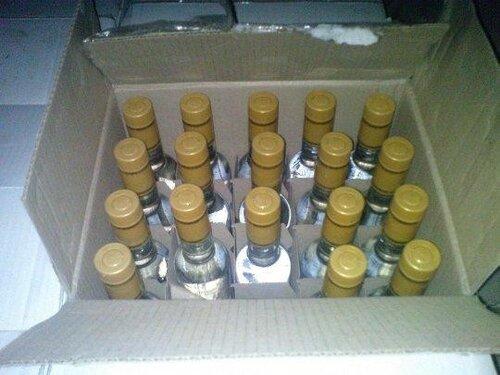 В багажнике машины бельчанина обнаружили 300 литров водки