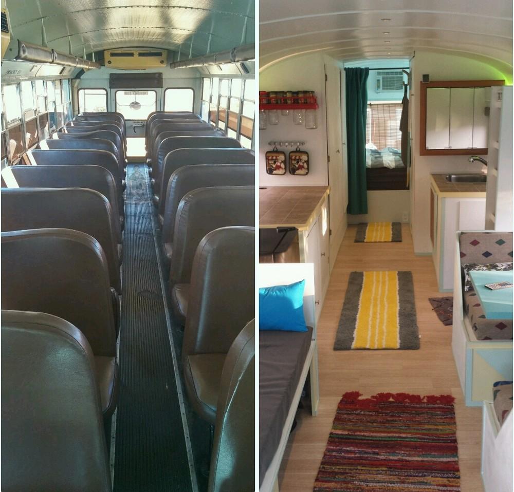Дом из старого автобуса своими руками 31