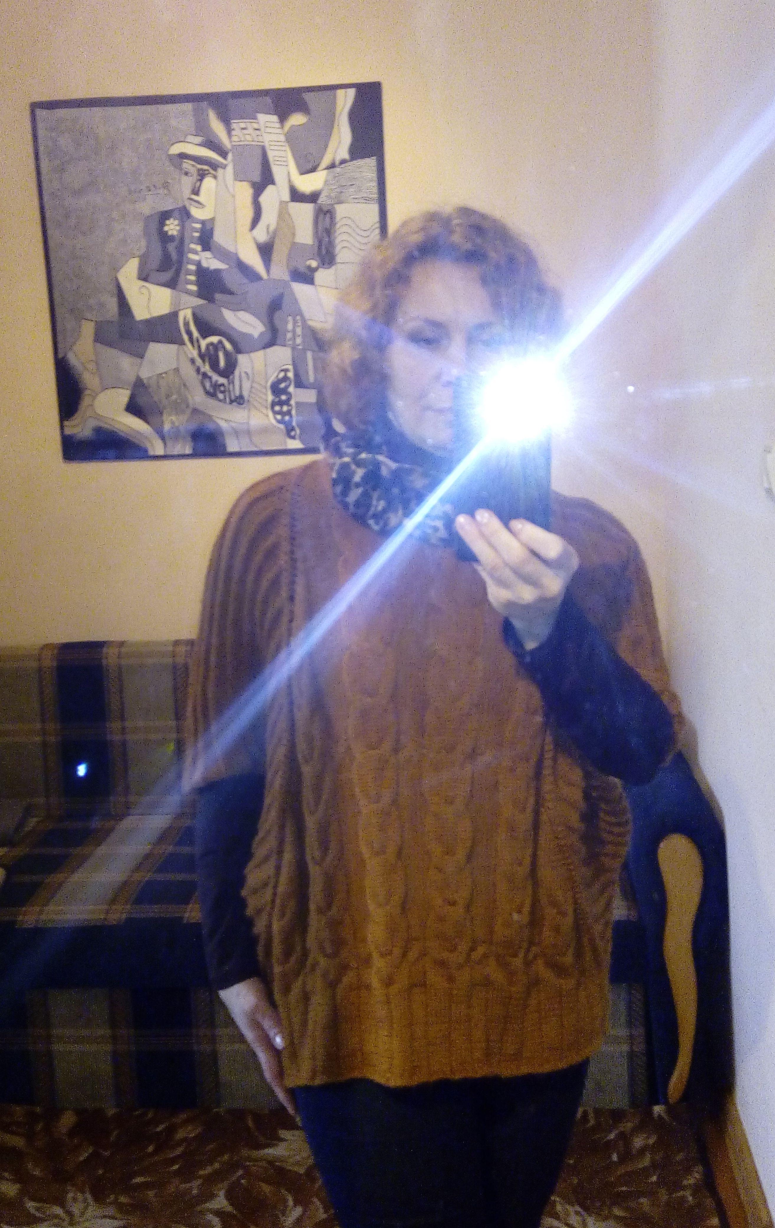 безразмерный свитер спицами схема