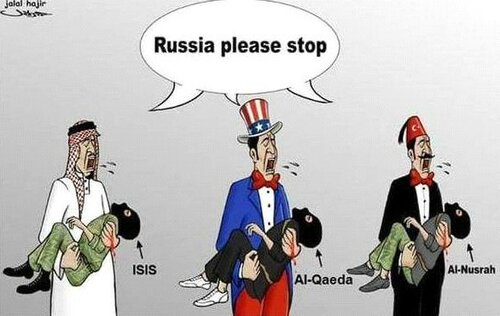 Afbeeldingsresultaat voor turkey and Us enemies of Syria cartoon
