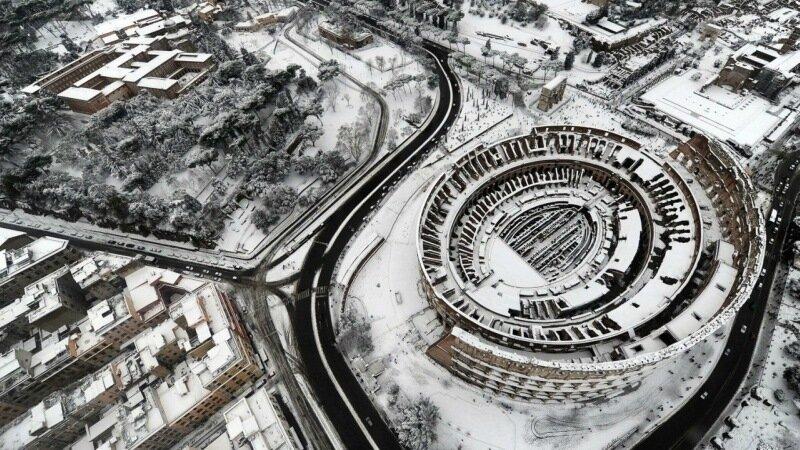 ITALY ROME SNOW
