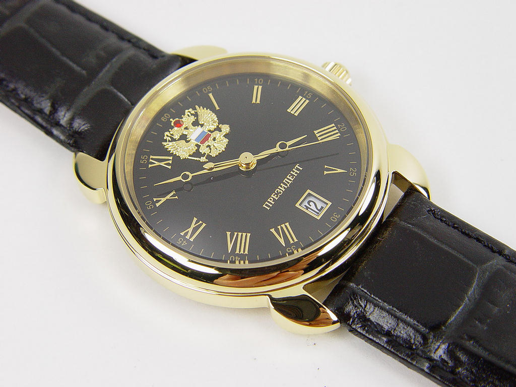 New watch president of russia genuine poljot quartz gold coating 4076681 ebay for Foljot watches