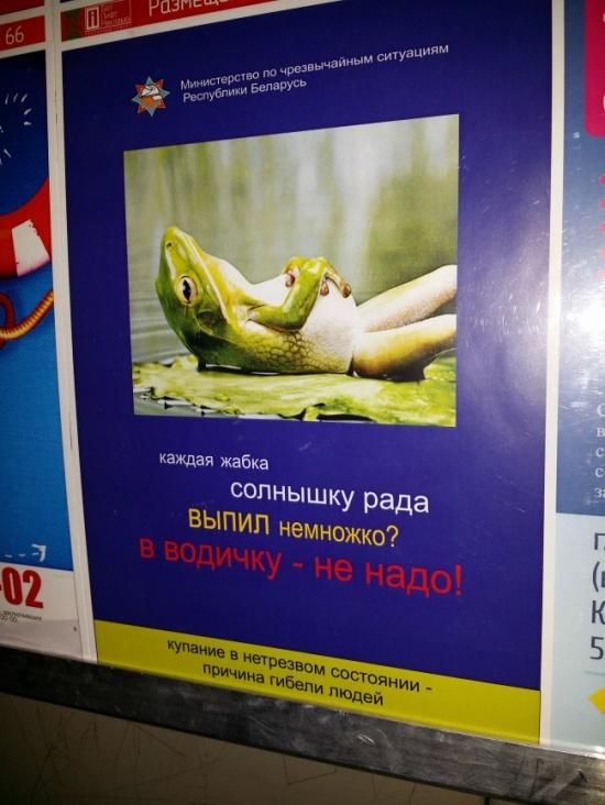 Как приятно, когда тебя сравнивают спьяной жабкой.