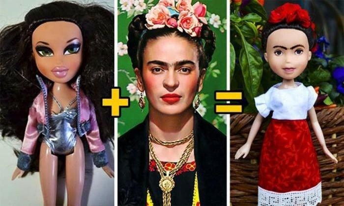Художница смывает макияж с кукол и превращает их в великих женщин
