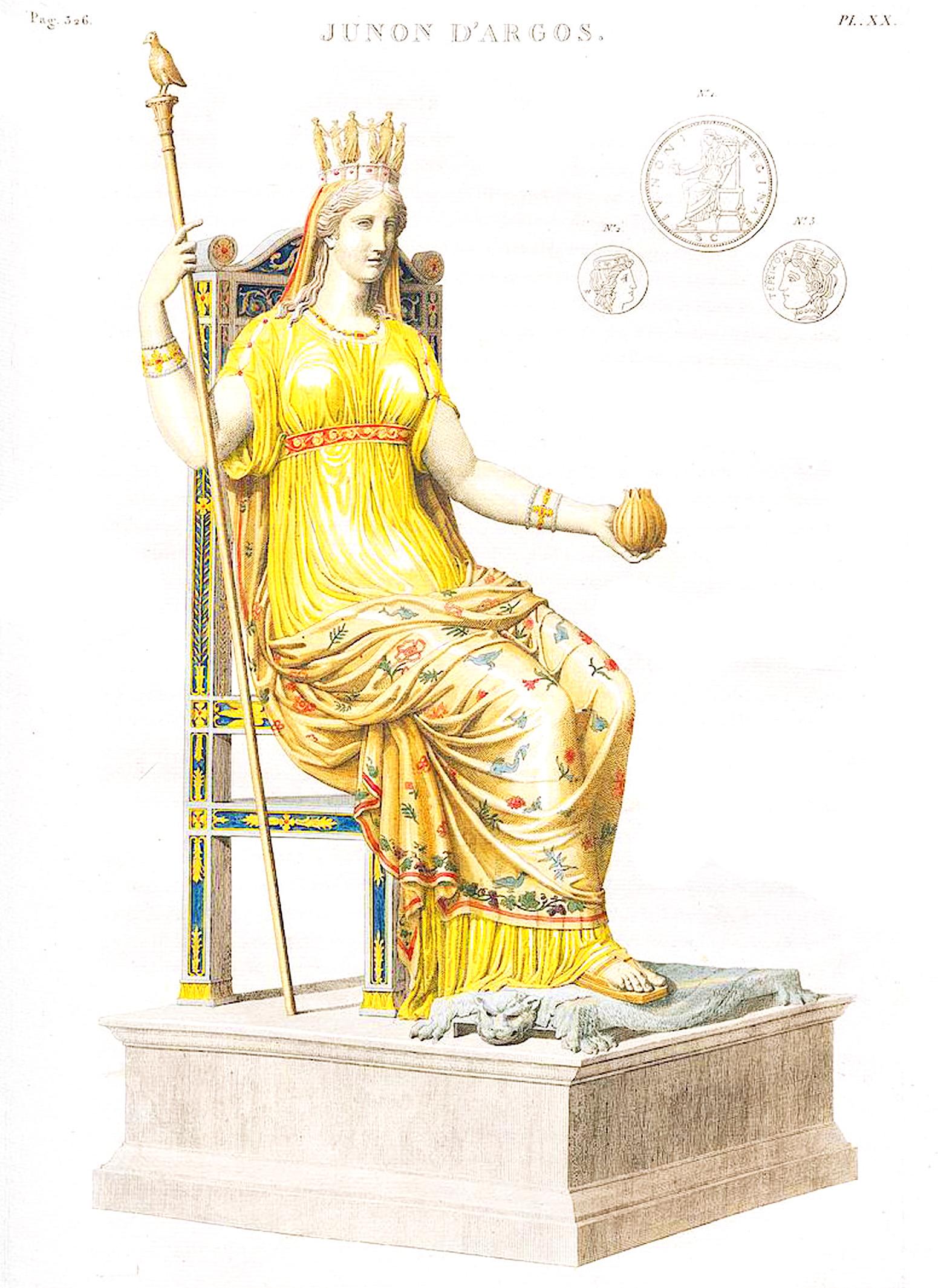 20. Юнона в храме Аргосе Junon d'Argos