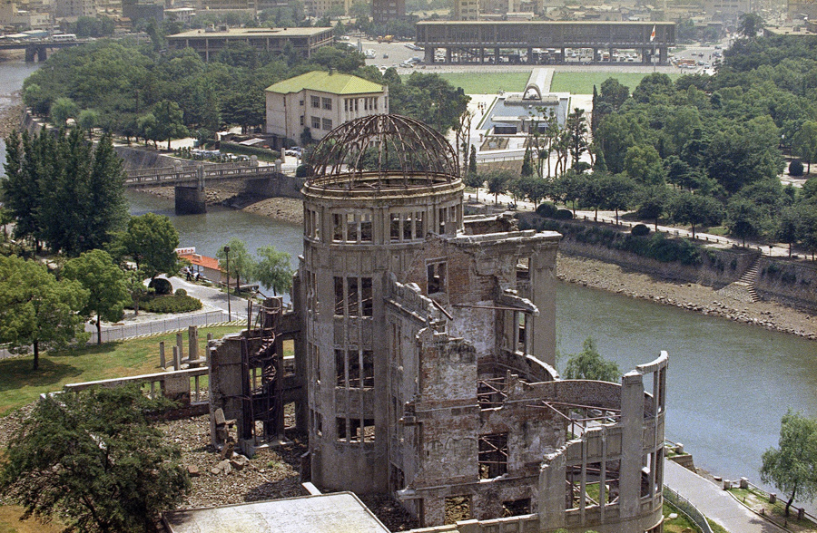 Desfor revists Hiroshima in 1970, 25 years after the atomic bomb was dropped on August 6, 1945.
