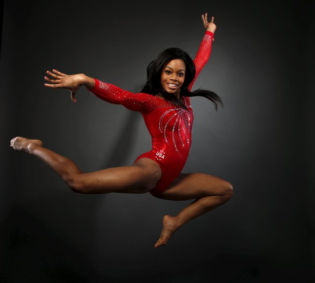 Gymnast Gaby Douglas poses for a portrait at the U.S. Olympic Committee Media Summit in Beverly Hill
