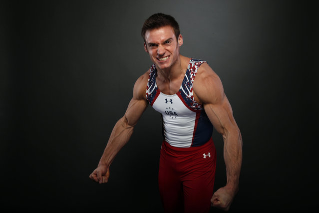 Gymnast Sam Mikulak poses for a portrait at the U.S. Olympic Committee Media Summit in Beverly Hills