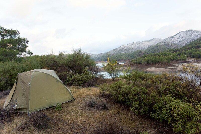новый год в палатке на Кипре