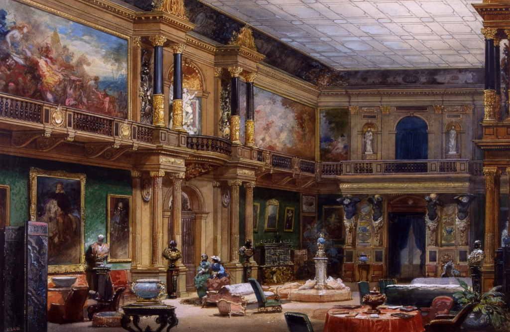 'Hall of the Chateau de Ferrieres'