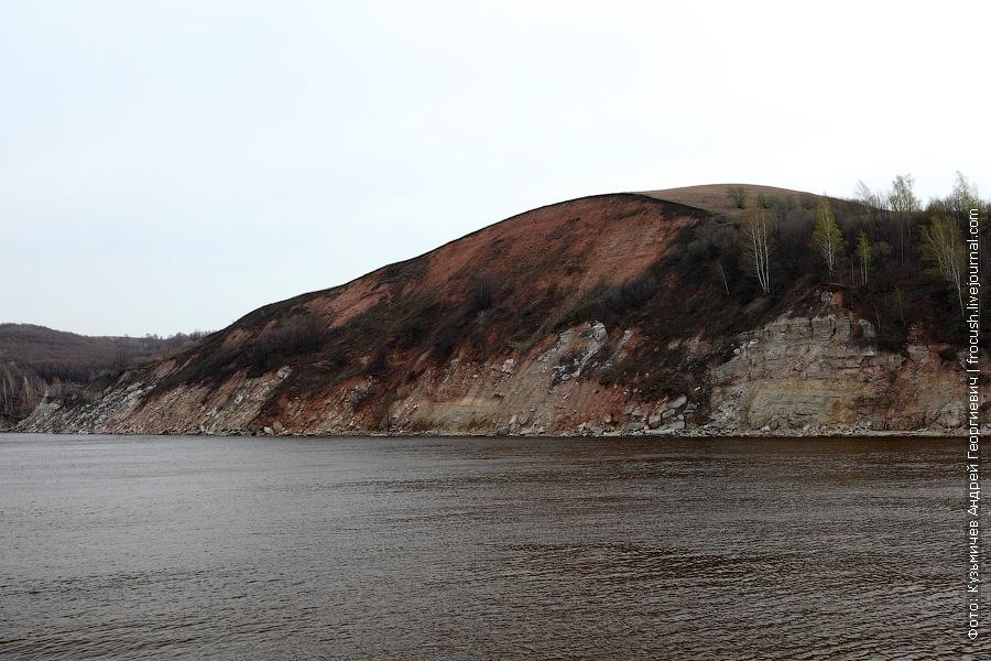 Высокий обрывистый правый берег Волги