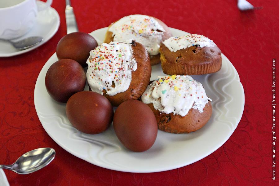 Пасха, куличи и крашеные куриные яйца