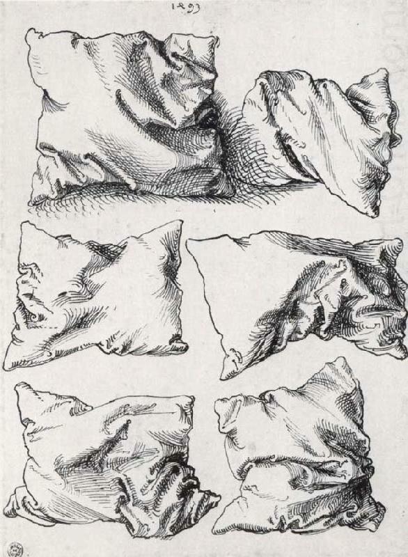 Albrecht Dürer, six pillows, pen an ink on paper, n.d.