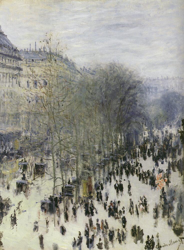 Бульвар Капуцинок, 1873, Клод Моне