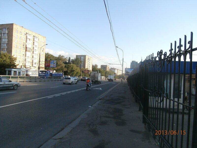 Дмитровское шоссе, вид на север
