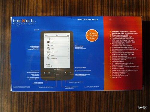 Texet ТВ-446 (задняя сторона упаковки)