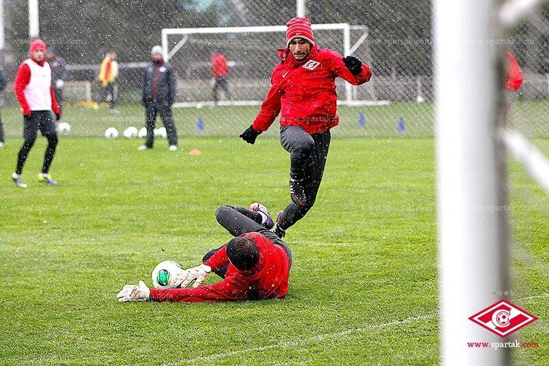 Тренировка «Спартака» с участием Ромуло и Брызгалова (Фото)