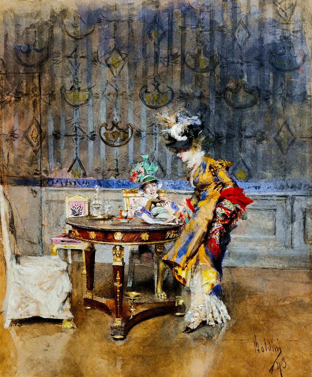 Giovanni Boldini (ITALIAN, 1842-1931) - THE LETTER
