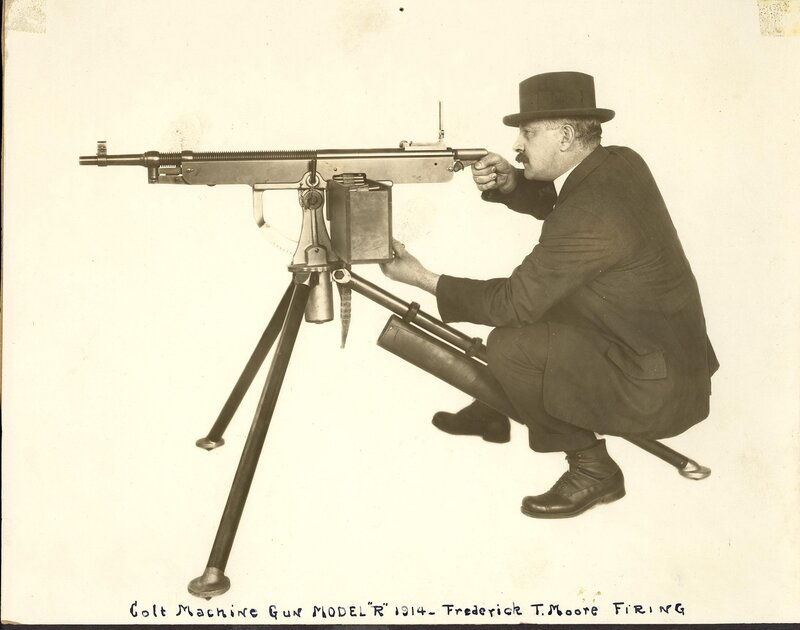 M1895/1914 Colt-Browning machine gun, fired by Frederick T. Moore