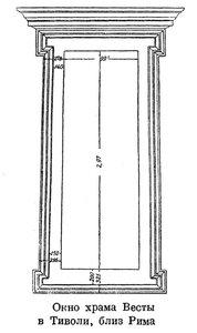 Окно храма Весты в Тиволид, чертеж