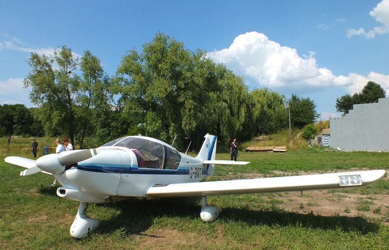 Авиашоу ретро-самолетов в Киеве