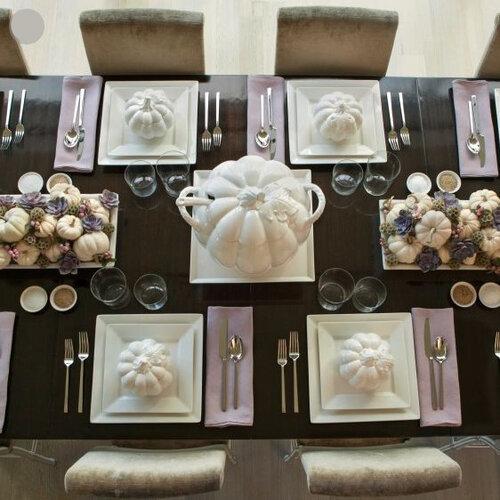Сервировка стола тыквами