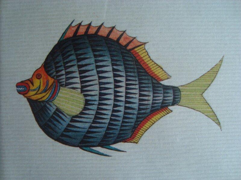 Кошелёк с тропической рыбкой