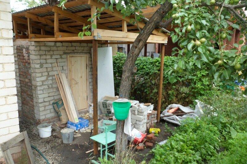 Баня в саду фото