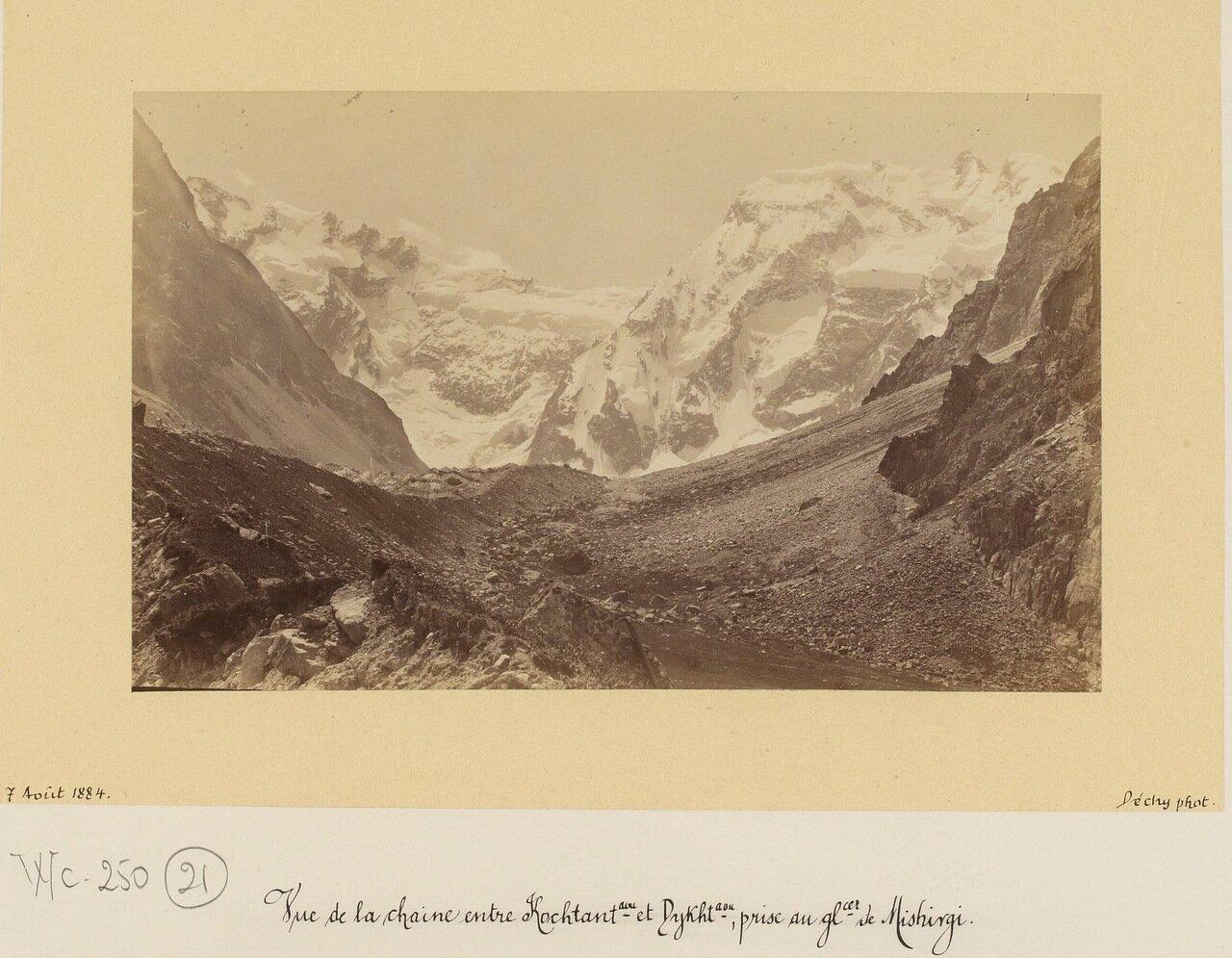 Вид на горную цепь между Коштантау и  Дыхтау