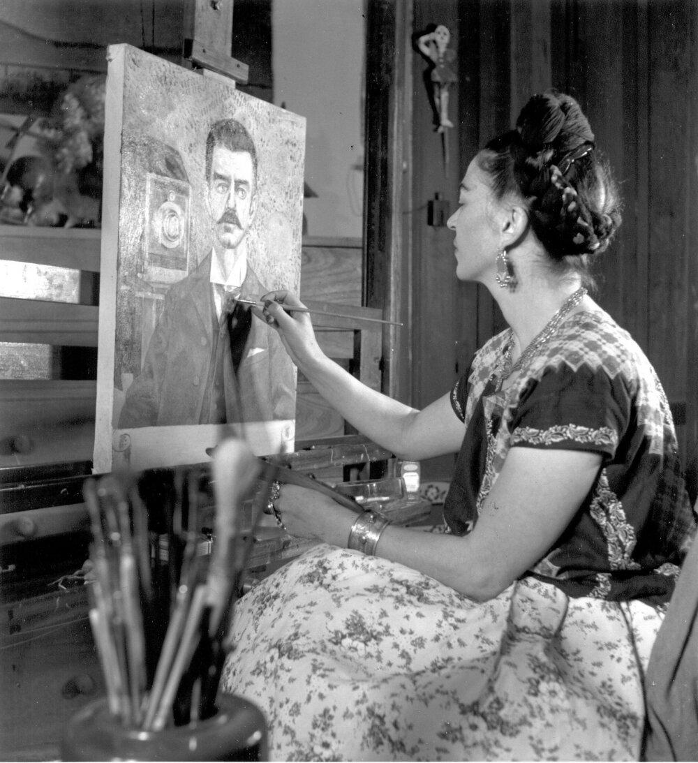 1944. Фрида Кало за работой