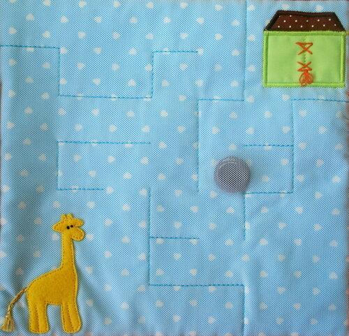 Развивающая книжка Жираф-путешественник, развивающая игрушка Лабиринт
