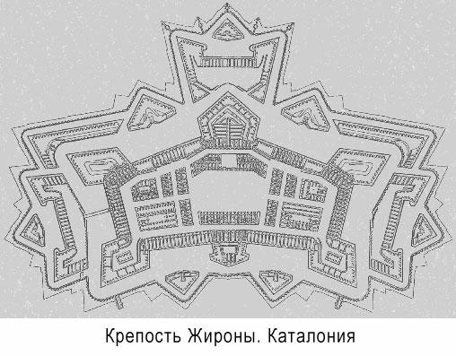 План жиронской крепости