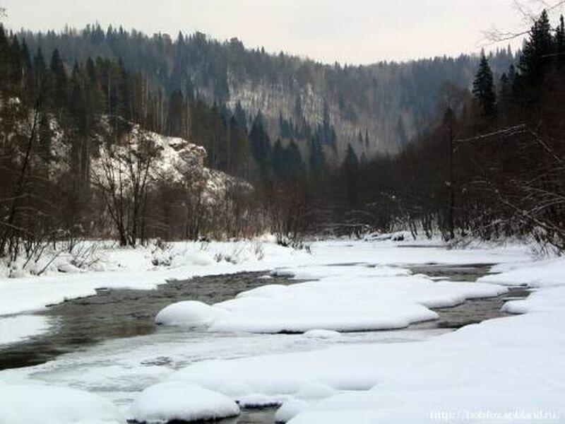 Первый лёд на реке Миньяр (28.05.2013)