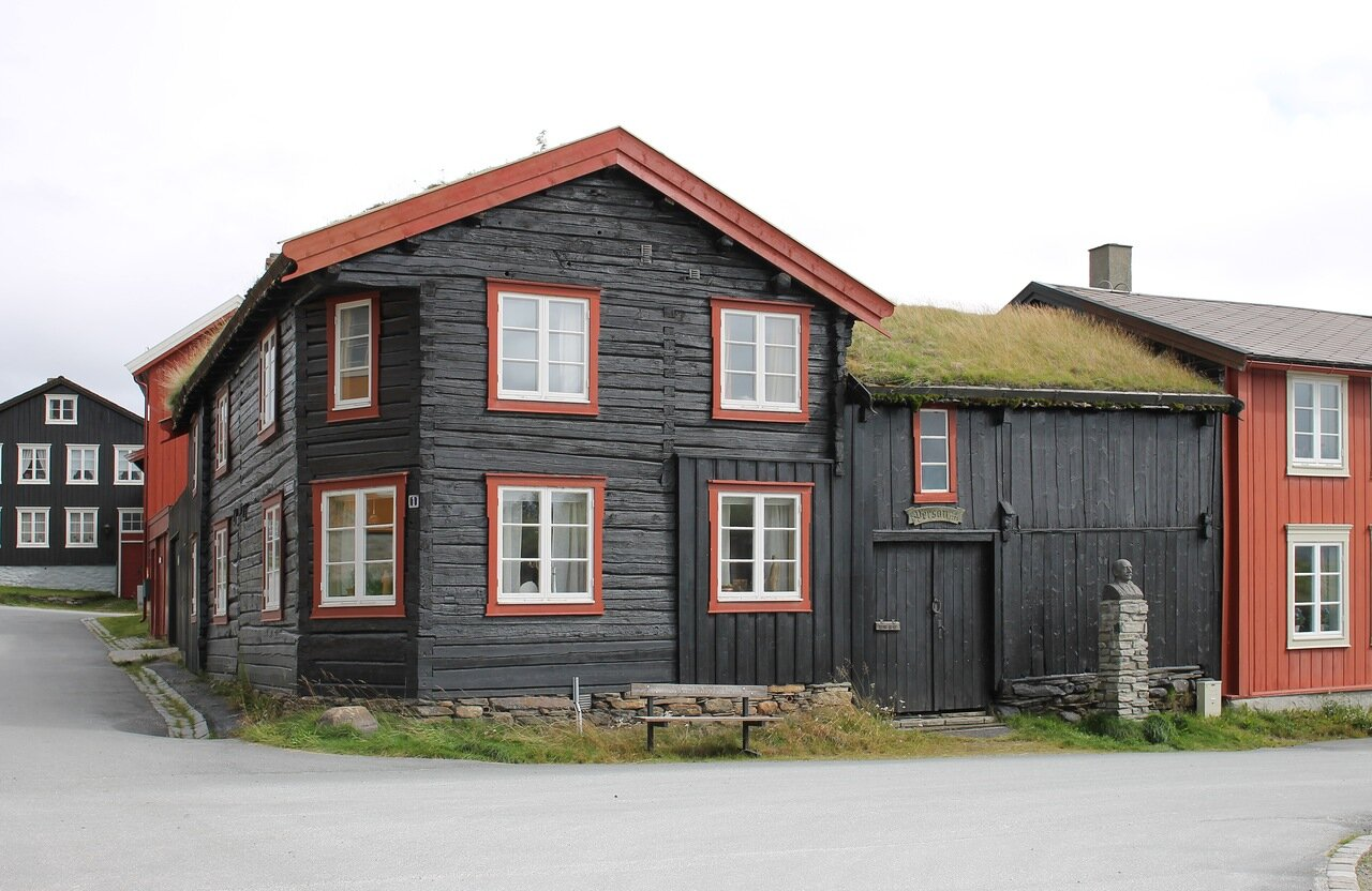Røros. Copper smelting factory