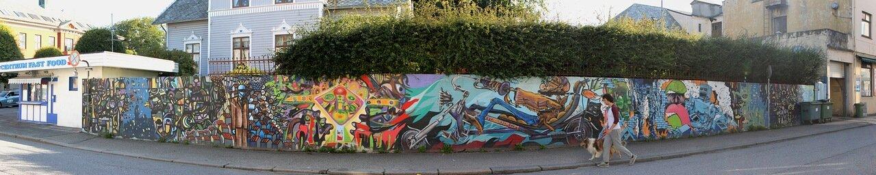 Хаугесунд, panorama, graffiti