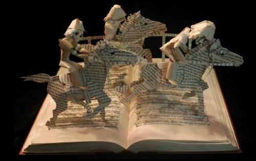 Бумажные скульптуры Джоди Харви