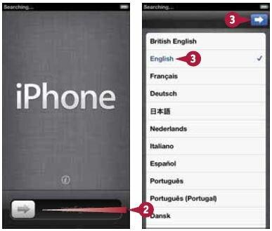Ваш iPhone разблокируется, и начнется настройка