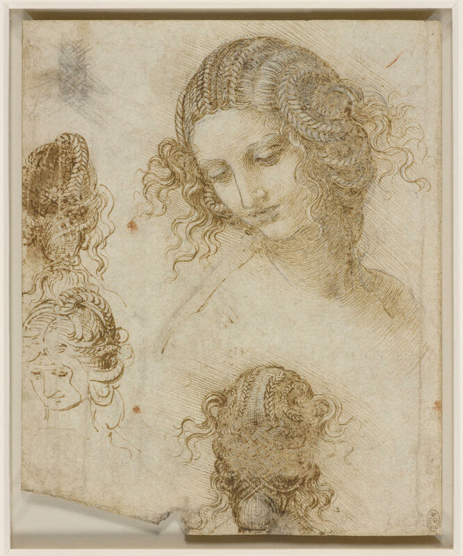 Leonardo Da Vinci Studio per la testa di Leda (1505 - 1506 ca)