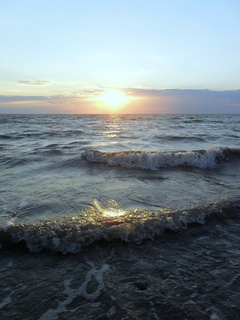 Вечер, на Азовском берегу