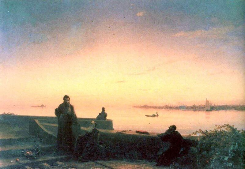 Айвазовский Иван Константинович, Мхитаристы на острове св. Лазаря